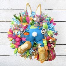 Królik wieniec ozdoba wielkanoc złodziej króliczek tyłek z uszami kreskówka króliczek kształt śliczna dekoracja ozdoby królik wieniec wiszący