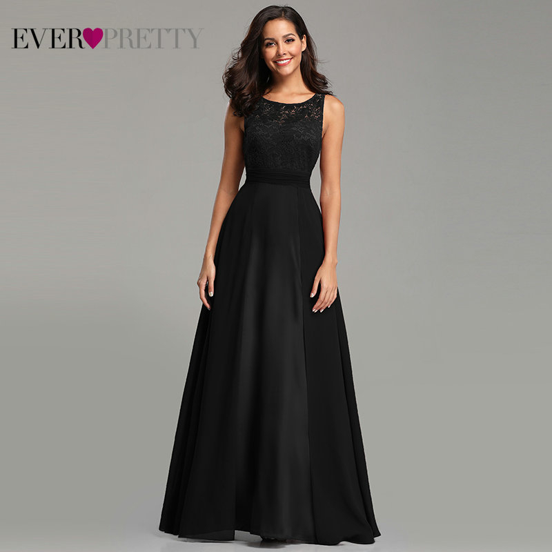 Robe De Soiree Grande Taille 2019 Ever Pretty Women's Sexy A-line Sleeveless O-neck Chiffon Lace Cheap Evening Dress Party Gowns