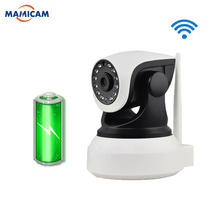 HD 1080P IP WIFI Wireless Camera Built IN Battery Surveillance Video Record PTZ CCTV Onvif P2P Two Way Audio Pan 355 Night Visi рюкзак 1015315 синий серый