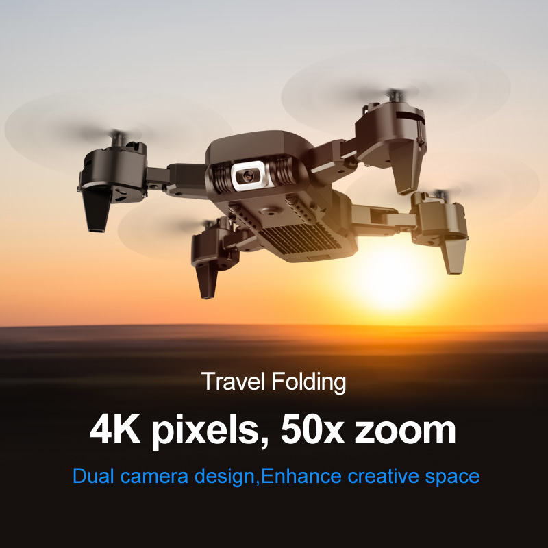 Drone Mini Helicopter Model-4K Double Camera-VR 3D Experience
