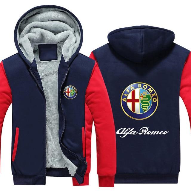 Winter Autumn Hoodies Clothes Casual Women Man For Alfa Romeo Sweatshirt Hoodies Zipper Casual Coat Male Plus Size Tops