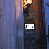 2019 nowe słoneczne drzwi tablica światła 2 Led dekoracyjne płytki nazębnej drzwi numer oświetlenie lampy J8 #3