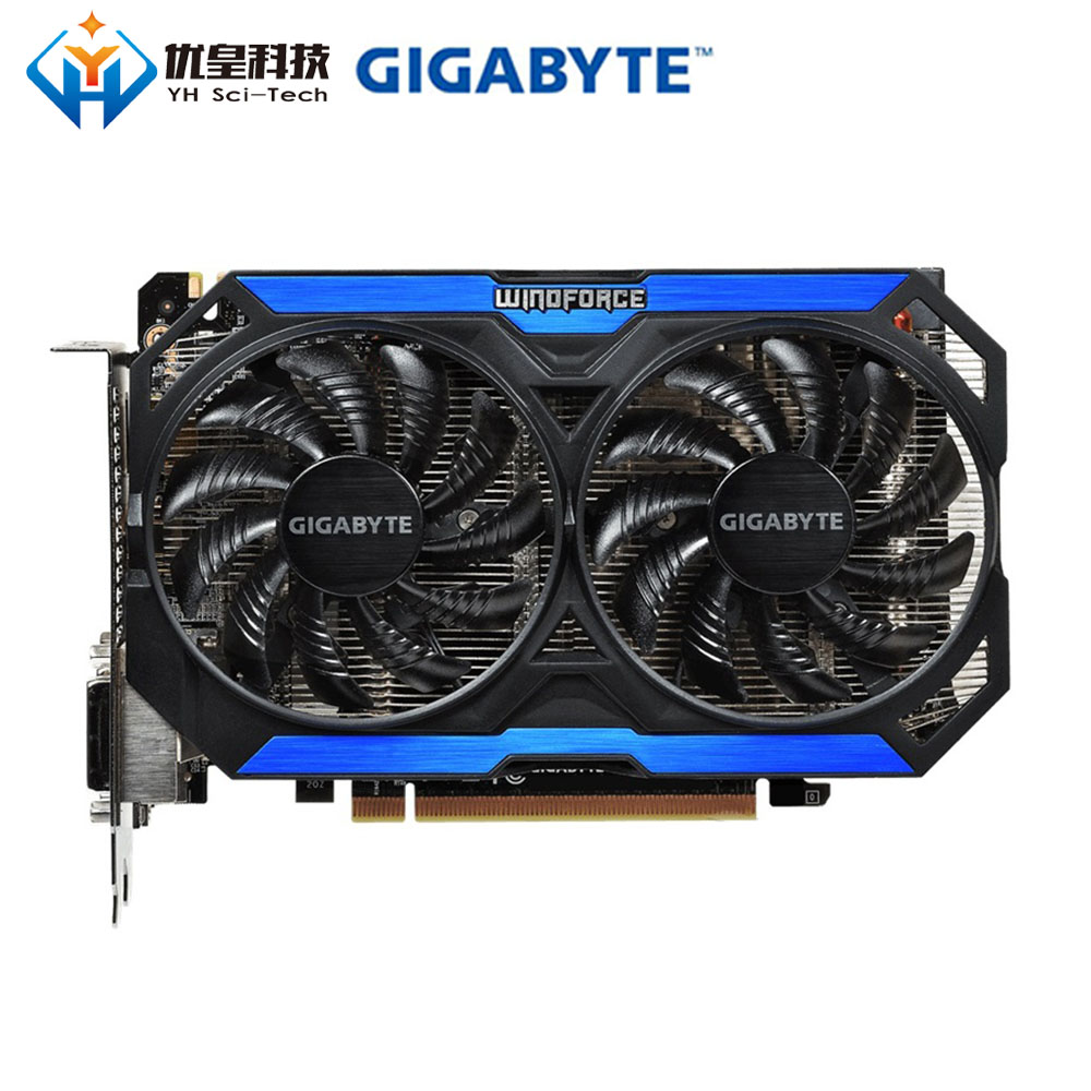 Gigabyte GV-N960OC-4GD Original Graphics Cards 128bit GeForce <font><b>GTX</b></font> <font><b>960</b></font> 4G GDDR5 Video Card 2*DVI 1*HDMI 1*DisplayPort image