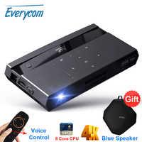 Miniproyector de cine en casa Everycom H96 Max DLP, compatible con 4K, Wifi, Android, Control por voz, vídeo inteligente
