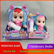 Muñecas sorpresa para jugar a las casitas para bebés, juguetes para jugar a las casitas, hacer sonidos/cobertizo lágrimas, juguetes para juego de imitación Reborn, regalos de cumpleaños y Navidad