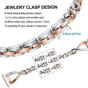 Image 4 - Diamond & Stainless Steel Watchband for Michael Kors Womens Access Runway / Sofie / Sofie HR Smart Watch Band Wrist Strap Belt