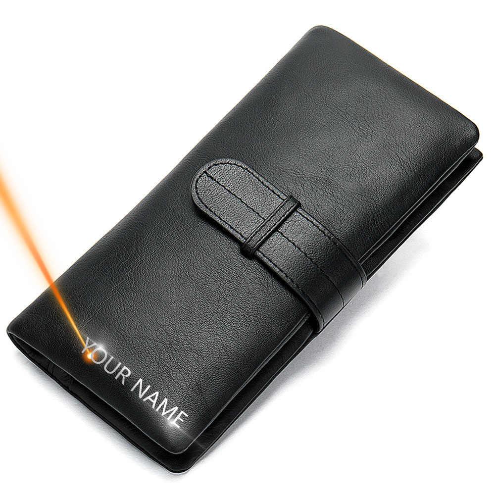 2020 男性は革名印刷ハスプ男性財布ロング 100% 本革ヴィンテージ高品質男性財布