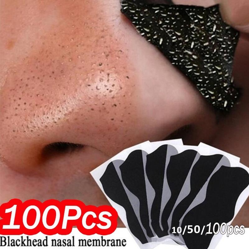 10-100 шт. Нос Маска для удаления угрей глубокое очищение кожи уход сжимает поры, акне маска для ухода за кожей носа черных точек с вибрациями, ч...