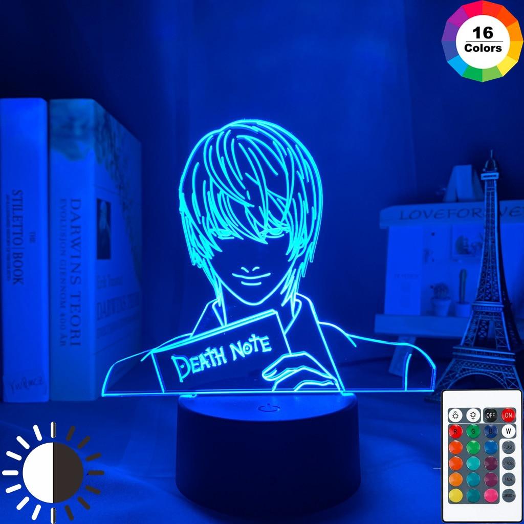 Светильник Yagami акриловый светодиодный ночной Светильник Аниме подарок Death Note лампа для детской спальни декоративный светильник для детско...