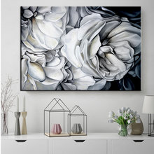 HD Nordic Style White Rose Canvas Painting Art Wall Pictures For Living Room HD Modern Home Decoration Posters And Prints(China)