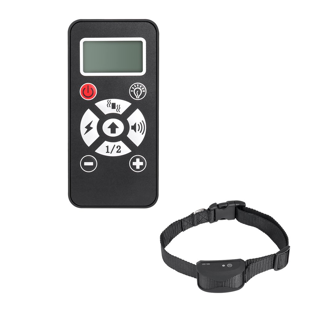 Portable Adjustable Intensity Waterproof Rechargeable Static Shock Vibration Beep Flashing Modes Remote Dog Training Collar