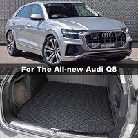 Lsrtw2017 Leather Car Trunk Mat Cargo Liner for Audi Q8 2018 2019 2020 interior accessories carpet
