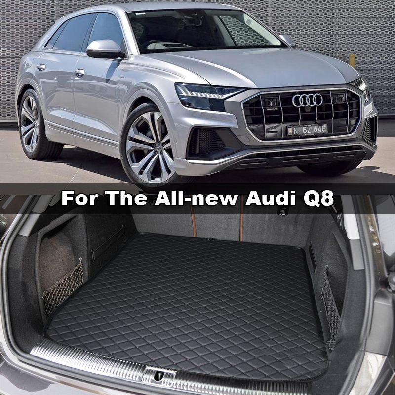 Lsrtw2017 Leather Car Trunk Mat Cargo Liner For Audi Q8 2018 2019 2020 Interior Accessories Carpet