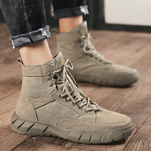 Brand high Top Full Genuine Leather men boots High help Cow Suede men shoes autumn Street style Lace-Up Motorcycle Desert Boots zsuo brand genuine leather men boots cow suede leather boots men military desert ankle boots brown fashion men shoes botas hombr