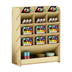 Papeterie stockage bricolage organisateur de bureau maison avec tiroir pièces séparées gain de place étagère en bois multifonction porte-stylo étude