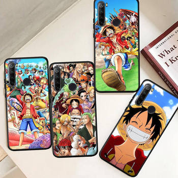 Hood One Piece Anime Luffy Sauron Silicone Cover For Xiaomi Redmi 8A 8 9A K20 K30 For Redmi Note 9 Pro Case 7 10X 4G 5G Funda image