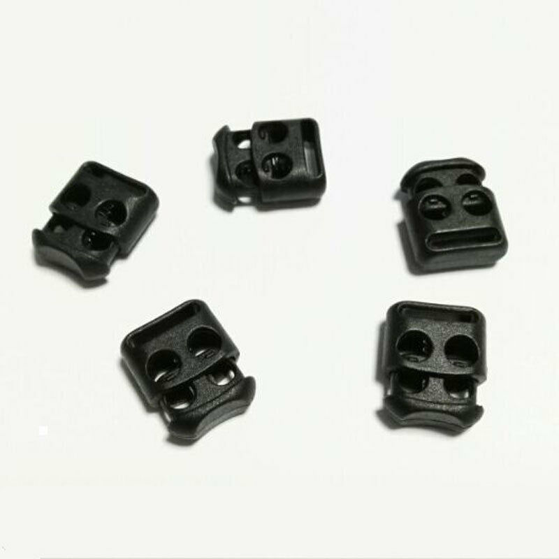 10pcs/Pack Non-slip Shoelace Buckle Stopper Rope Clip Clamp Cord Lock Outdoor Running