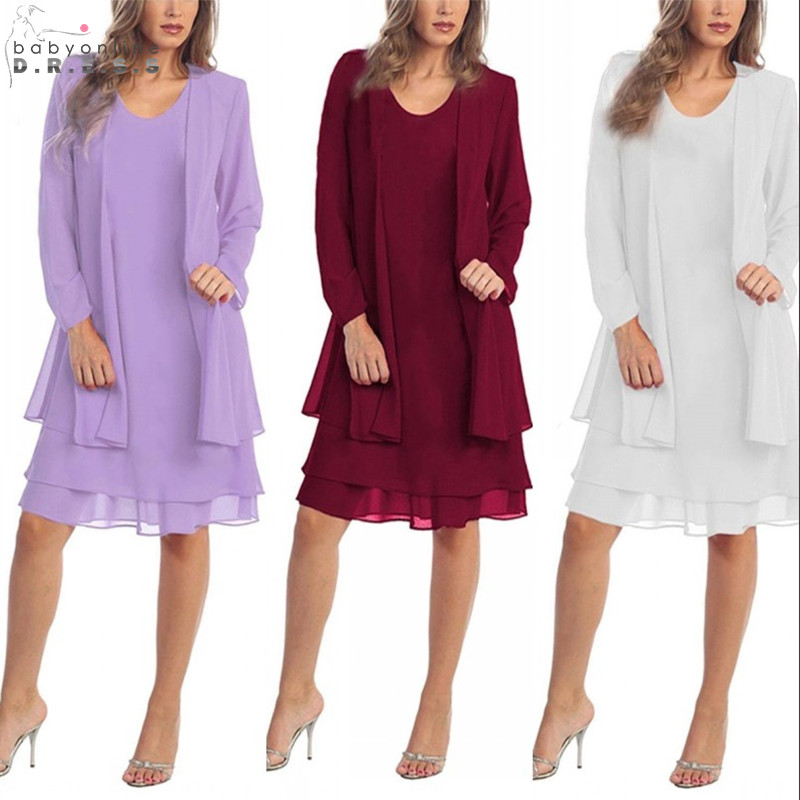 Robe De Mere Elegant Plus Size Chiffon Mother Of The Bride Dresses Long Sleeve Mother Evening Party Dresses Vestido De Madrinha