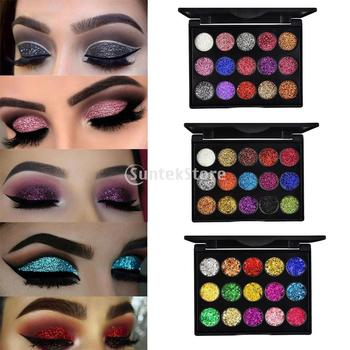 15 Colors Bright Pro Glitter Eye Shadow Palette Pallete Makeup Pressed Cosmetic Pallete Long Lasting Eyes MakeUp Powder Pallete 1