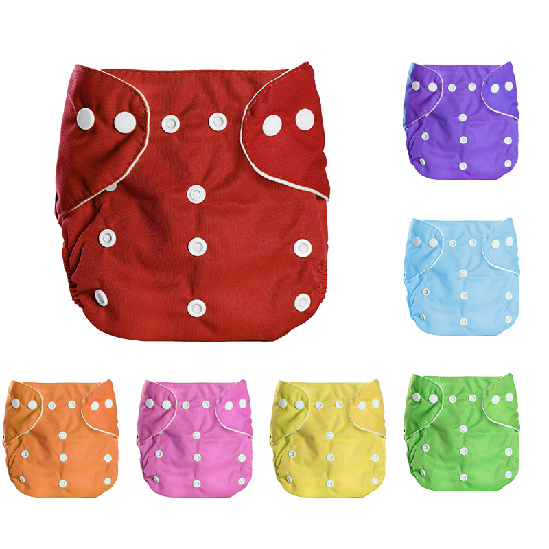 Baby Washable Reusable Real Cloth Pocket Nappy Diaper Cover Wrap Suits Birth To Potty One Size Nappy Inserts Cloth Diapers Baby