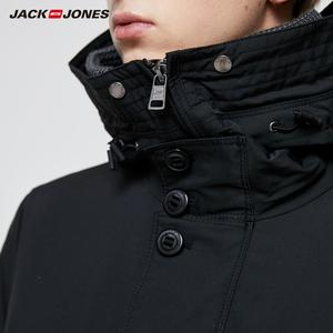 Image 4 - JackJones メンズ冬フード付きパーカーコートロングジャケット高級オーバーコート 2019 新メンズウェア 218309511