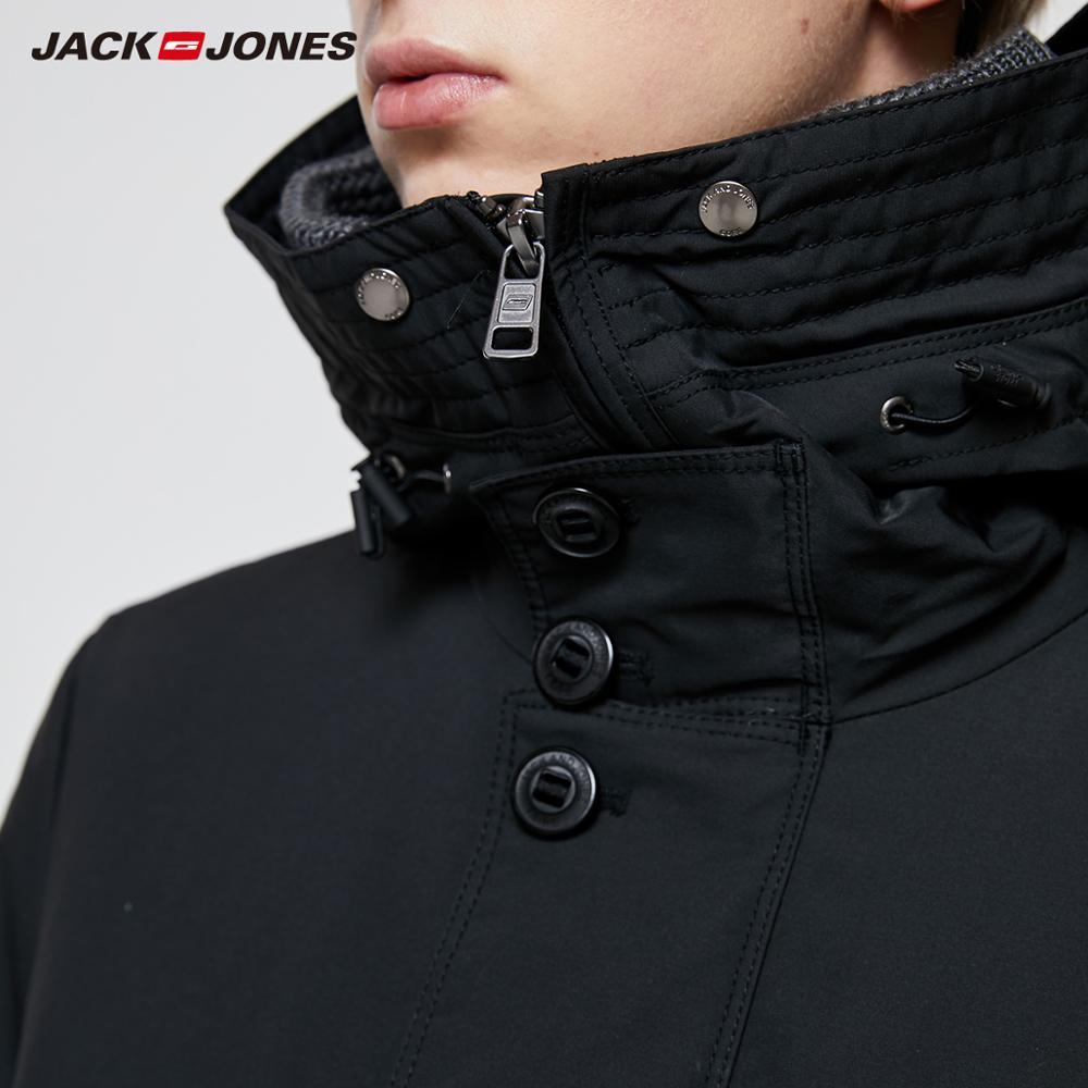 Image 4 - JackJones Men's Winter Hooded Parka Coat Long Jacket Luxury Overcoat 2019 New Menswear 218309511-in Parkas from Men's Clothing