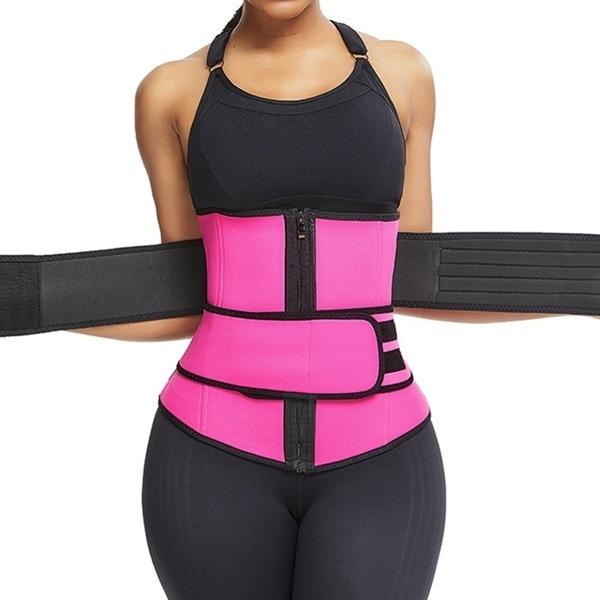 Women Waist Trainer Corset Neoprene Sweat Belt Tummy Slimming Sport Shapewear Breathable Belly Fitness Modeling Strap Shaper 2