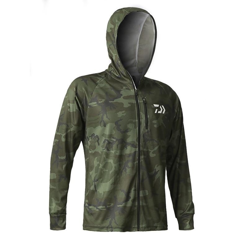 2020 New Men Outdoor Fishing Shirt Thin Breathable Hygroscopicity Quick Dry Anti-uv Shirt Fishing Clothing Jacket Male
