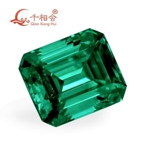 Image 2 - green color retangle shape em erald cut shape Sic material  Moissanite loose stone