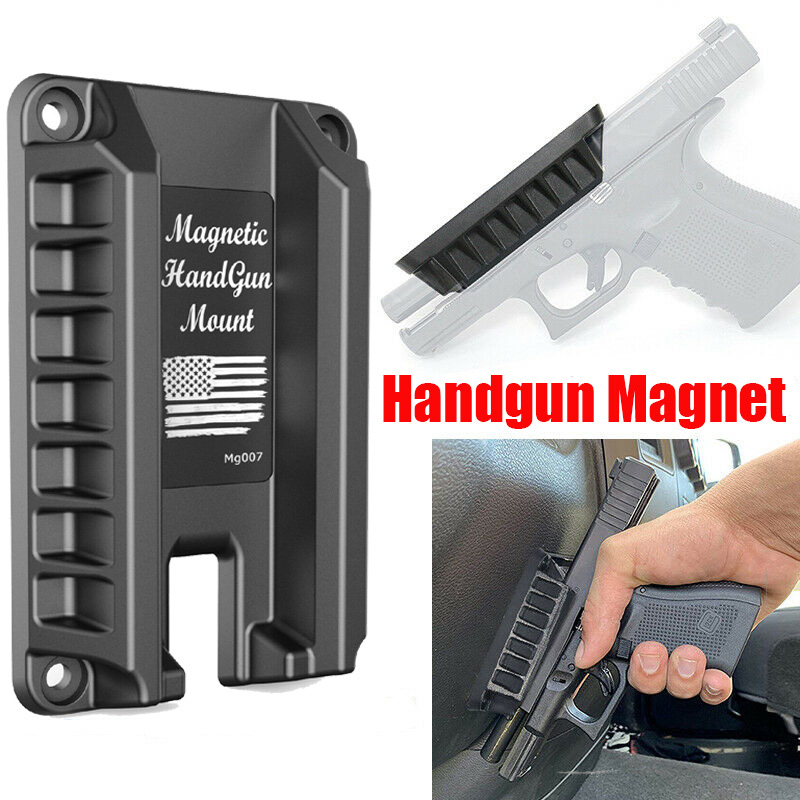 Magorui Gun Magnet Mount Gun Holder For Family/Market/Car/Defened Fits Glock Series Springfield S&W M&P Ruger Taurus HK Kahr Sig
