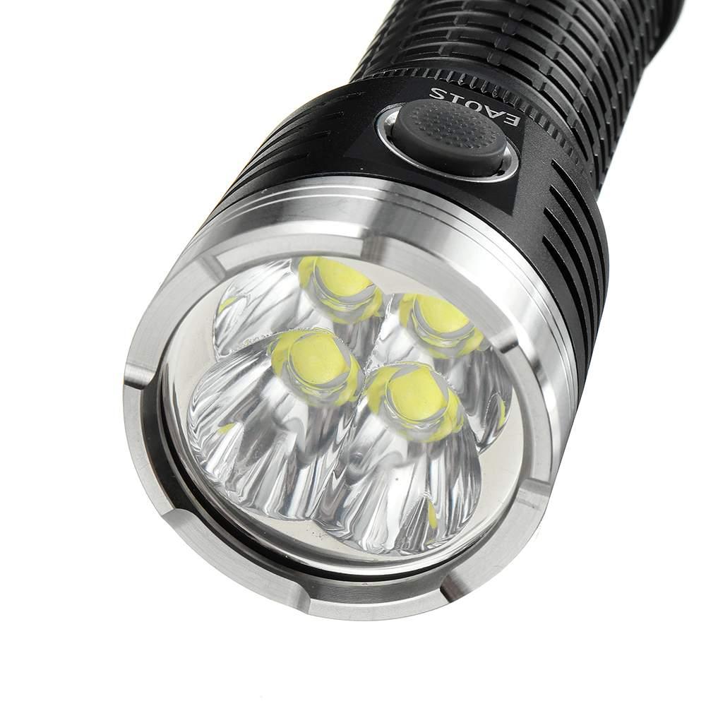 ao ar livre typec recarregavel lanterna tocha luz com 26800 6800mah bateria 02