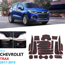 Per Chevrolet Trax Tracker Holden 2017 2018 2019 MY17 MY18 MY19 Anti-Slip Gomma Cancello Slot di Tazza di Zerbino Accessori adesivi per auto(China)