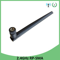 booster antenne wifi 2.4GHz antenn 5dBi אוויר RP-SMA מחבר Antena 2.4G Antenne wi fi Antenas wifi אנטנות Booster Wifi נתב אלחוטי (5)
