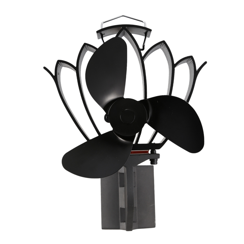 New Designer Stove Pipe Fan for Inclined Surface Fixed on the Chimney Pipe of Wood/Log Burner/Fireplace Winter Warm Accessori