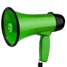 Green Handheld Tweeter Portable Recording Megaphone to Spread The Megaphone