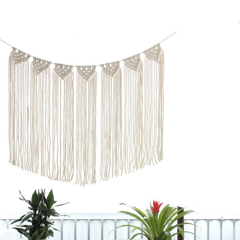 Macrame Woven Wall Hanging Boho Chic Bohemian Home Art Decor Apartment Dorm Room Decoration|Decorative Tapestries| |  - title=