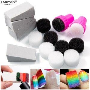 15pcs Nail Art Sponge DIY Tools Template Transfer Stamper Polish Gel UV Stamping Manicure Gradient Change Color Makeup Set Salon