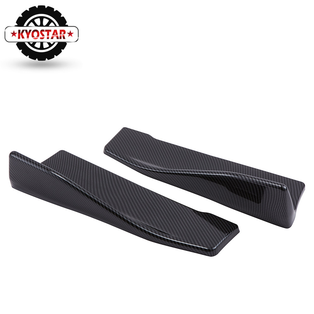Image 4 - Universal Carbon Fiber Car Rear Lip Angle Splitter Diffuser Bumper Spoiler Winglet Wings Anti crash modified Car Body Side Skirt-in Bumpers from Automobiles & Motorcycles