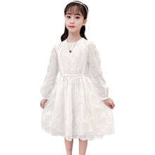 Girls Dress Lace Floral Dress Girls Spring Autumn Kids Dresses Teenage Costumes For Girls 6 8 10 12 14