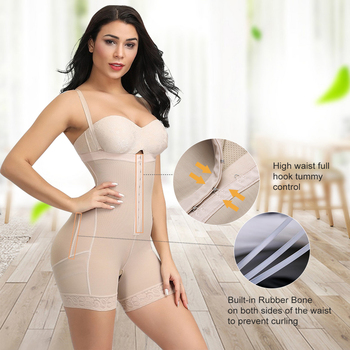 FeelinGirl Faja Reductoras Colombianas Post Surgery Slim Women Girdle Body Shaper Bodysuit Butt Lifter Shapewear Modeling Belt 3