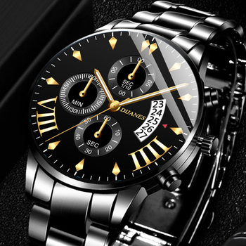 цена на relogio masculino Men's Fashion Watches for Men Business Casual Stainless Steel Quartz Watch Date Calendar Clock montre homme