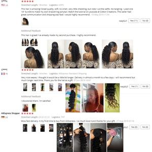 """Image 5 - Onda profonda Bundles 100% Dei Capelli Umani Bundles Brasiliano Capelli intrecciati 1/3/4 Bundles capelli Non Remy Colore Naturale 8 """" 26"""" Estensioni dei capelli"""