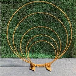 Hochzeit für Urlaub partei schmiedeeisen runde ring arch tür künstliche seide blume reihe stehen wand regal Weihnachten dekoration