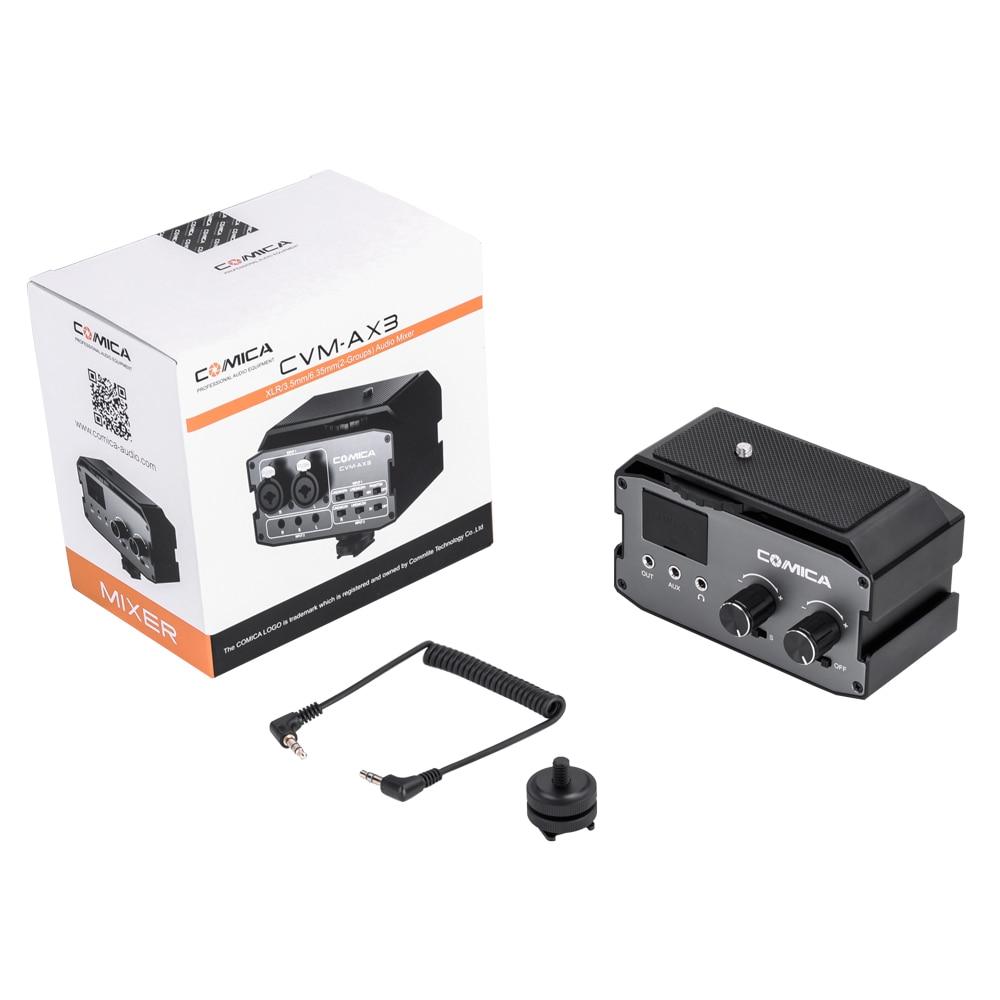 adaptador de áudio mixer para canon nikon
