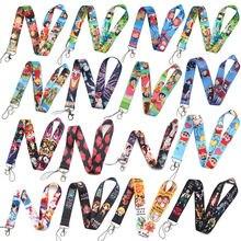 O458 аниме крутые шнурки знак id карабином новые стильные тесёмки
