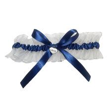 2pcs Bridal Garter European and American Lace Garter Blue Bow Lace Leg Ring Bridal Wedding Accessories Party Decoration 5Z cheap EUDILOVE CN (Herkunft) Nein Flower F002 Tuch Hochzeit Verlobung Großen Ereignis Valentinstag