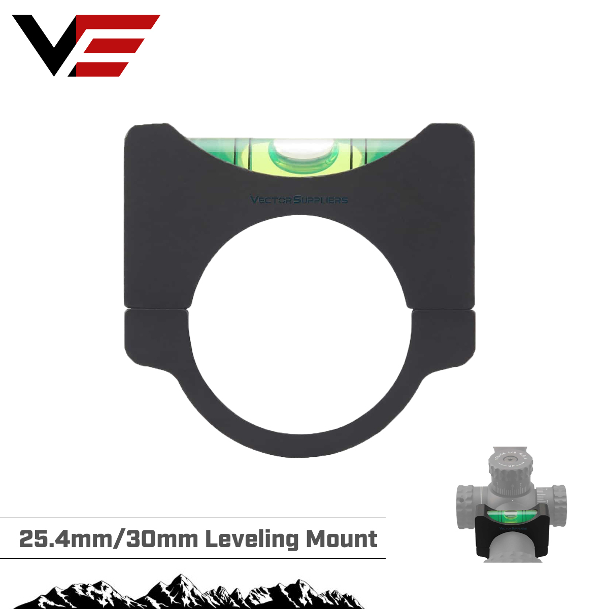 Vector Optics 30mm & 1'' Anti Cant Device Rifle Scope Bubble Level Mount Rings Gradienter ACD Adapter Ring