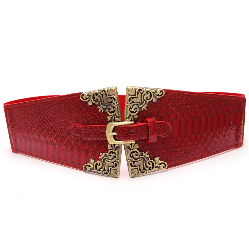 2020 Spring Corset Belt Fashion Belts For Women Solid Waistband Stylish New Design Female PU Leather Carved Wide Belt ZK472