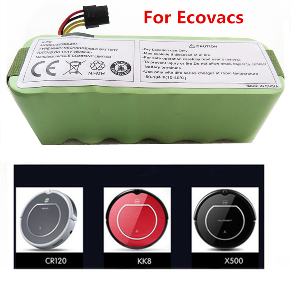 NEW NI-MH Rechargeable Vacuum Cleaner Battery for Ecovacs 14.4V 3500mAh CR120 Dibea Panda X500 X580 Kk8 Haier Sweeping Robot(China)
