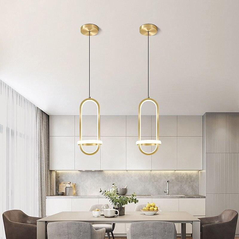 Ouro moderno conduziu a lâmpada pingente para sala de estar quarto cabeceira nordic minimalista brilho longa linha pendurado luz decoração casa